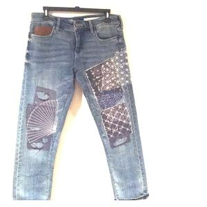 Pilero and Letterpress Hyphen embroidered jeans